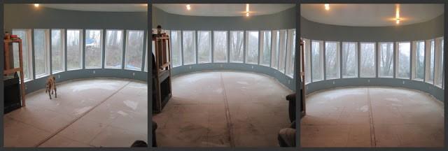 blank round room