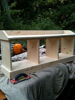 bench in progress