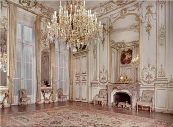 Rococo room, pastel, airy