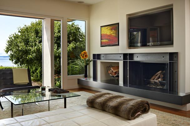 steel fireplace
