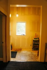 Looking at the mudroom from the dining table