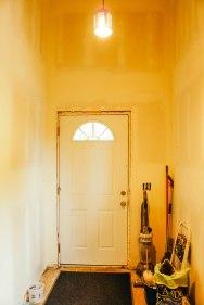 Mudroom temporary door
